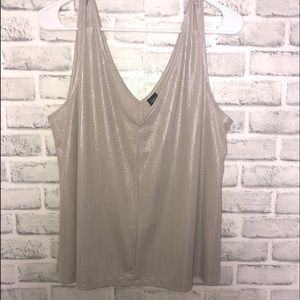 City Streets Tan/Taupe Shimmering Tank Top Size xl